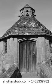 door way in old stone wall