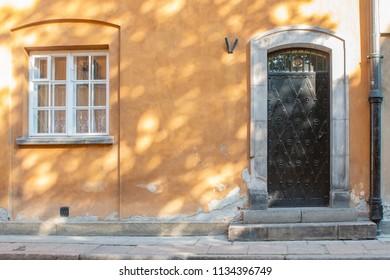 The Door and the Window in Old Building