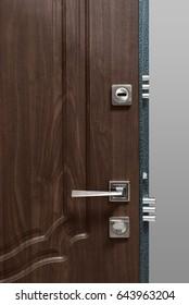 door with wood texture