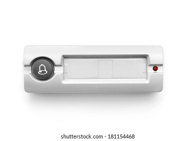 doorbell ring button on white