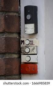Doorbells of a Dutch student house