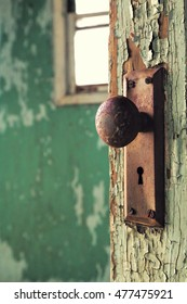 Doorknob in an Abandoned Schoolhouse