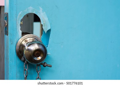 Doorknob damaged
