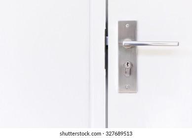 Doorknob at a white door