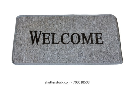 Doormat for feet isolated on a white background.