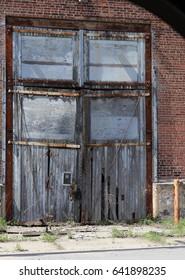 Doors of abandoned engine house