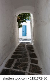 Doors and alleyways in Greece