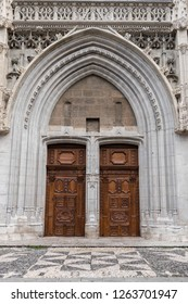 Doors of the cathedral of Chambéry located in France