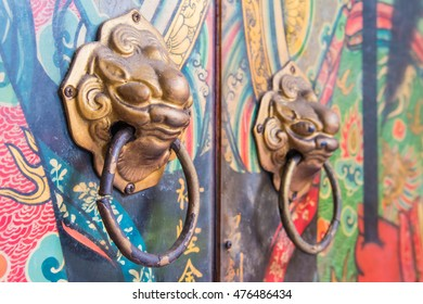 doors Chinese shrine .