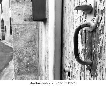 Doors in a desert village