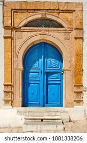 Doors of historical buildings in Sidi Bou Said, Tunis City, Tunisia, Africa