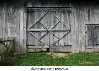 doors of an old barn