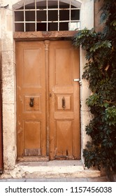Doors of old city of Rethymnon, Greece