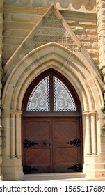 Doors on a cathedral in Rockhampton, Queensland, Australia.