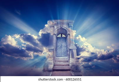 Doors to Paradise. The concept on religions and philosophical topic.