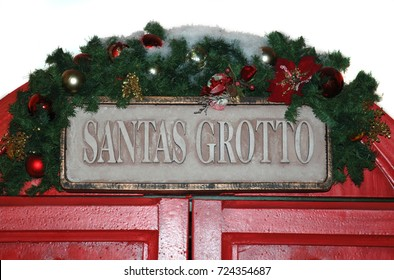 The doors to Santa's Grotto