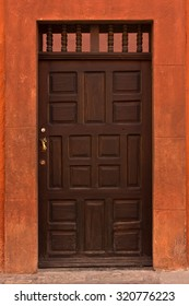 Doors of town house in San Miguel de Allende Mexico
