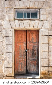 Doors and window of an old medieval castle