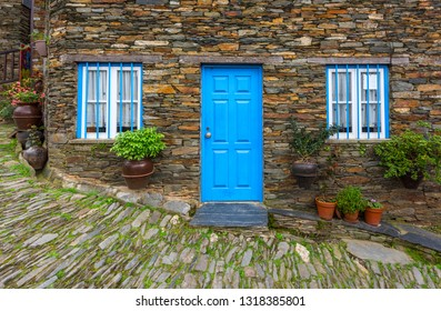 Doors and windows of Piodao village, Portugal