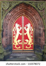 Doorway to 19th Century St Giles RC Church
