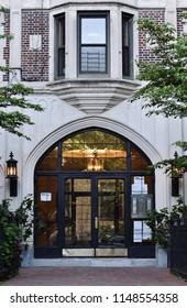 Doorway to Elegant Apartment Building