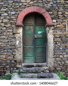 Doorway at Ras Gimb, a castle in Gondar, Ethiopia dating to the mid-18th century that was built to house family members of Empress Mentewab.
