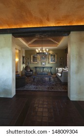 Doorway to traditional drawing room