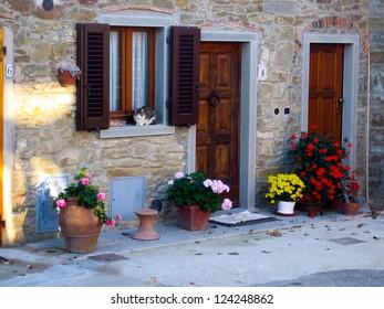 Doorway in Tuscany, Italy