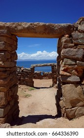 Doorways in the Chincana Ruins on the Isla del Sol on Lake Titicaca