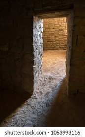 Doorways inside ancient structures at  Aztec Ruins National Monument, New Mexico