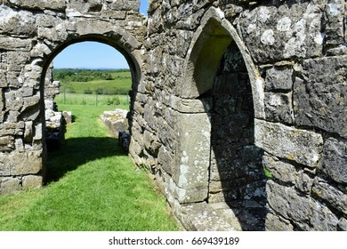 Doorways, St Mary's Augustinian Priory, Devenish Island, Lower Lough Erne, County Fermanagh, Northern Ireland