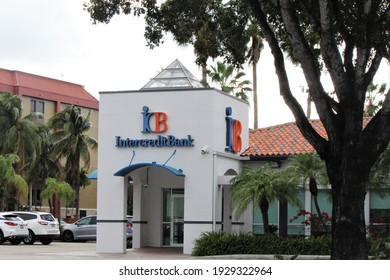Doral, Fl, USA: March 3, 2021: Intercredit Bank N.A. is a Florida-based bank founded in 1992. The Bank is a National Association supervised by the Office of the Comptroller of the Currency OCC.