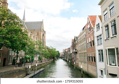 Dordrecht City in the netherlands with canal