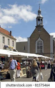 DORDRECHT, NETHERLANDS - JULY 3: Second hand books and maps displayed on stalls Sunday July 3, 2011 in Dordrecht. 16th Dordtse book market with 300 booksellers and 600 stalls has yearly 75000 visitors
