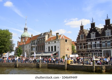 DORDRECHT, NETHERLANDS - JUNE 2 2012: Dordrecht in Steam, the largest steam power event in Europe. Crowds on the Groot Hoofd on Saturday 2 June 2012 in Dordrecht.