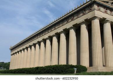 Doric building columns