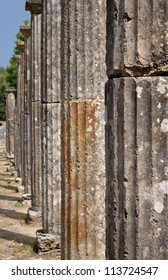 Doric Columns, Ancient site of Olympia, Greece