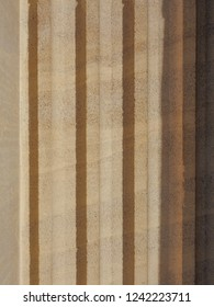 doric style pillar column used as architectural element