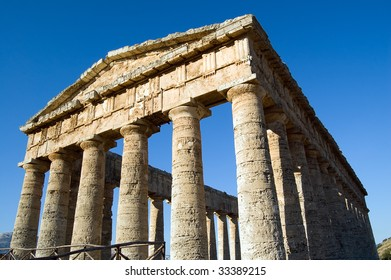 The Doric temple of Segesta, Sicily