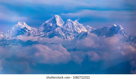 Dorje Lhakpa as seen from Nagarkot, Himalaya, Nepal