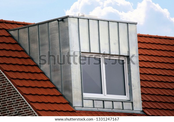 Dormer Stainless Steel Cladding Stock Photo (Edit Now