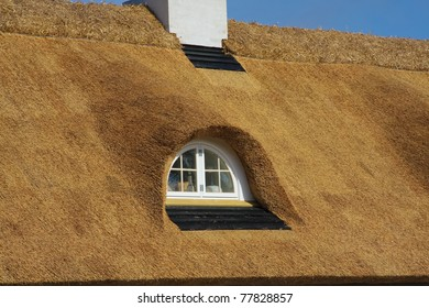 Dormer of a thatched house, Denmark