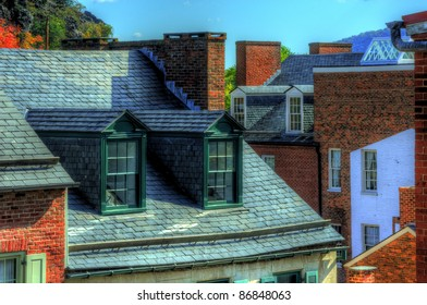 Dormer Windows in Harpers Ferry, Maryland, USA