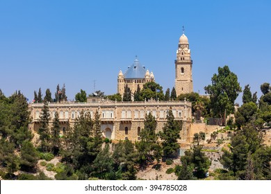 Dormition Abbey on Mount Zion in Jerusalem, Israel.
