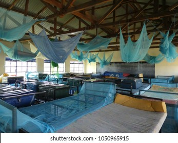 Dormitory in a girl's boarding school in Homabay (Kenya)