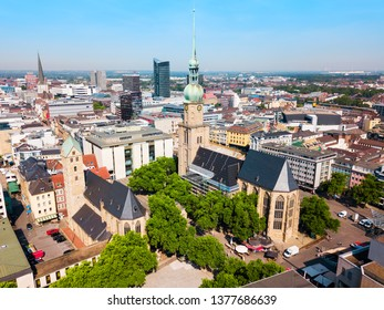 Dortmund city centre aerial panoramic view in Germany