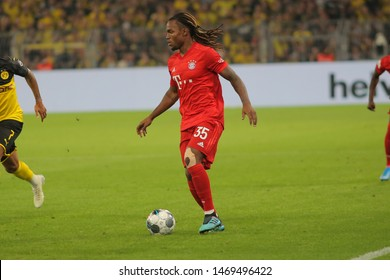 Dortmund, Germany. 3rd August 2019. Renato Sanches (Bayern Munchen) controls the ball during the match between Bayern Munchen v Borussia Dortmund for the German Supercup final. Dortmund, Germany,