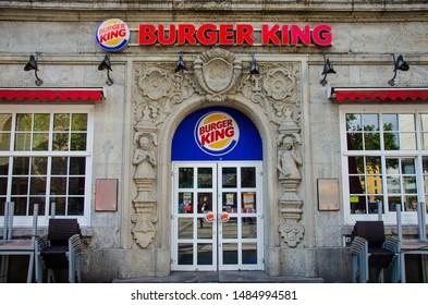 Dortmund, Germany - August 2, 2019: Burger King Retail Fast Food Location.