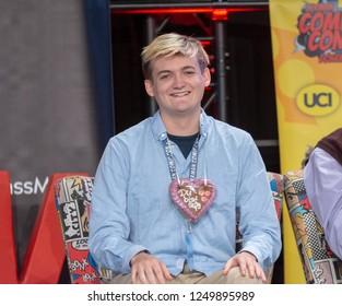DORTMUND, GERMANY - December 1st 2018: Jack Gleeson (*1992, Irish actor) at German Comic Con Dortmund, a two day fan convention