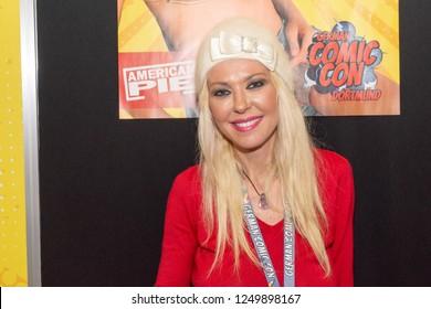 DORTMUND, GERMANY - December 1st 2018: Tara Reid (*1975, American actress - Sharknado, American Pie) at German Comic Con Dortmund, a two day fan convention